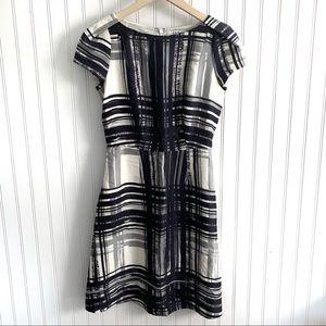 LK Bennett cap sleeve 100% silk pocketed dress